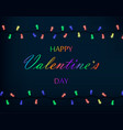 valentines day garland made of colored lights vector image vector image
