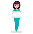 veterinarian woman cute cartoon character vector image vector image