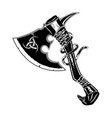 warrior axe vector image vector image