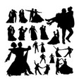 wedding dance silhouettes vector image