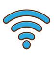wifi icon design vector image vector image
