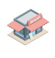 isometric boutique isolated vector image