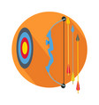 arrow with target icon button archery sign symbol vector image