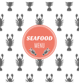 Seafood menu with lobster vector image
