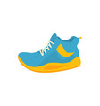 blue and yellow sport shoes icon in flat style vector image