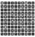 100 disabled healthcare icons set black vector image vector image