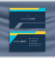 abstract geometric dark business card design vector image vector image