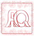 AQ monogram vector image vector image