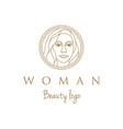 artistic beauty woman logo design vector image vector image
