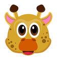 avatar of a giraffe vector image vector image