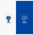 award cup prize reward victory line and glyph web vector image vector image