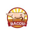 bacon logo design vector image vector image