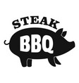 bbq steak logo simple style vector image vector image