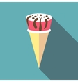 Berry ice cream icon flat style vector image vector image