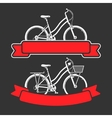 Bicycles and ribbons vector image vector image