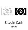 bitcoin cash black silhouette vector image vector image