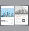 brochure design template with urban landscape vector image vector image