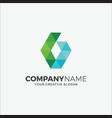 business logo modern pixel g vector image