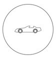car black icon in circle isolated vector image vector image