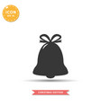 christmas bell icon simple flat style vector image