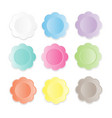 colorful paper flower banner on white background vector image vector image