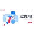 coronavirus infection test landing page template vector image vector image