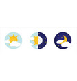 day night concept sun and moon day night icon vector image