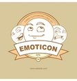 emblem with emoticons vector image