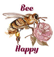 fashion bee be happy concept vector image