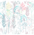 floral rustic seamless pattern colorful plants vector image
