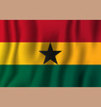 ghana realistic waving flag national country vector image vector image