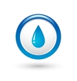 glossy water drop vector image