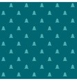 Green Christmas seamless pattern with little trees vector image