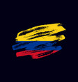 grunge textured colombian flag vector image