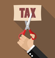 Hand cutting tax vector image vector image