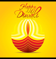 happy diwali festival greeting or poster design vector image vector image