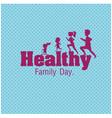 healthy family day family jogging blue background vector image vector image