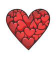 heart made hearts sketch vector image vector image