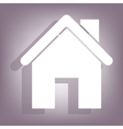 Home icon with shadow vector image vector image