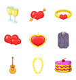hotly favourite icons set cartoon style vector image vector image