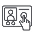 intercom telephone line icon communication and vector image vector image