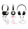 isolated black earbuds vector image