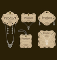 Jewelry Tags Design vector image vector image
