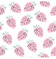 kids hand drawn seamless pattern with strawberries vector image vector image