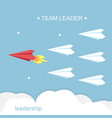 leadership team leader concept vector image vector image