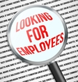 looking for employees vector image vector image