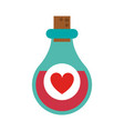 love potion bottle saint valentines icon image vector image vector image