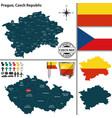 map prague czech republic vector image