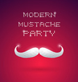 Modern Mustache Party vector image vector image