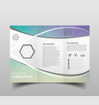 modern tri-fold brochure design template with vector image vector image